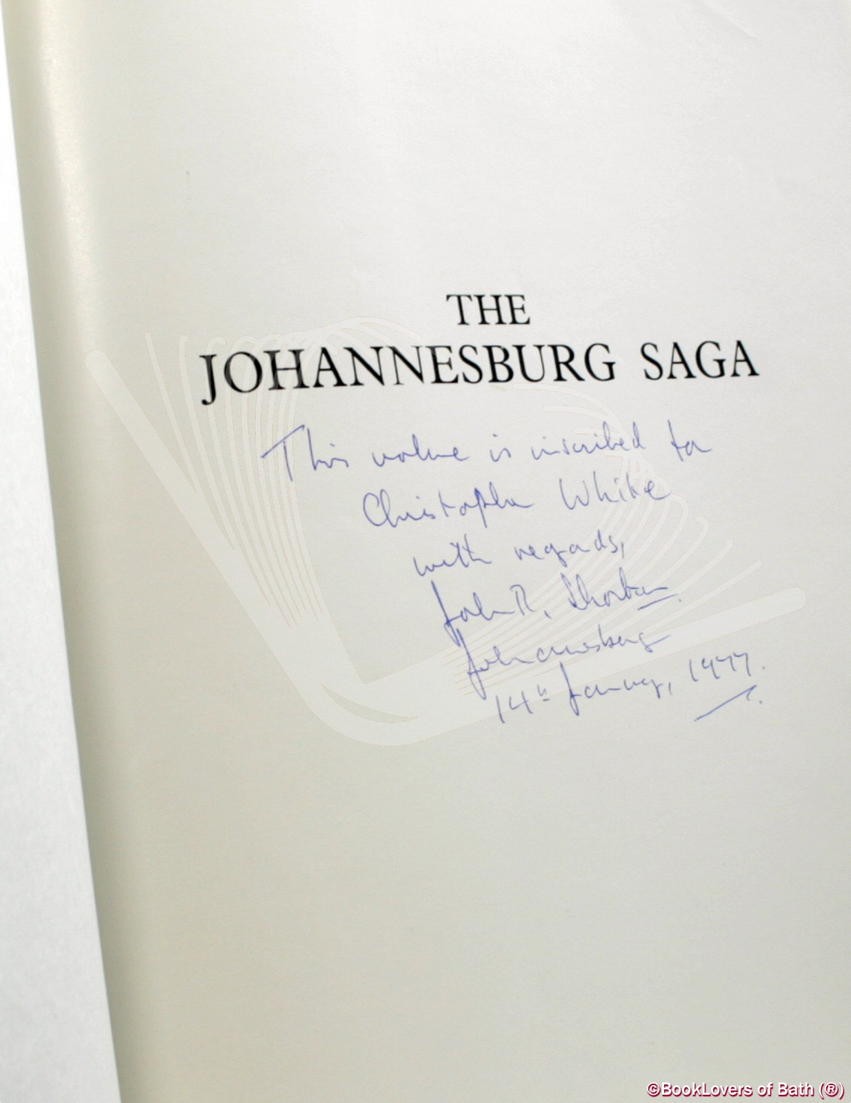 The Johannesburg Saga - John R. Shorten