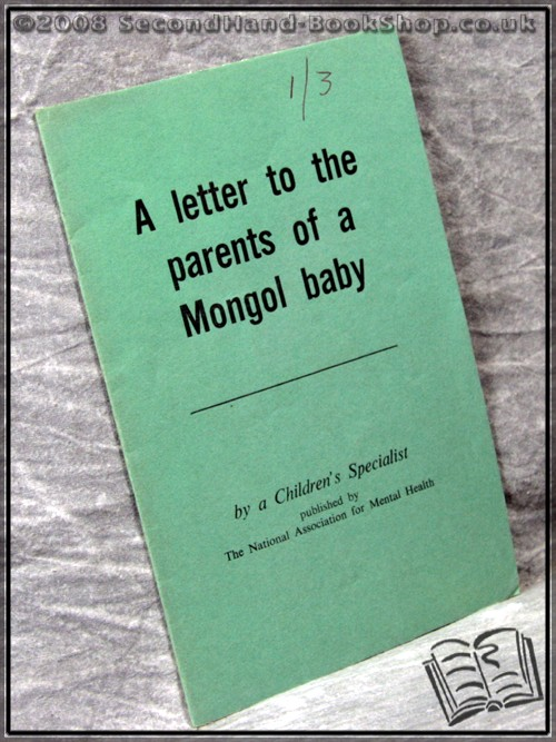 A Letter to the Parents of a Mongol Baby - A Children'S Specialist