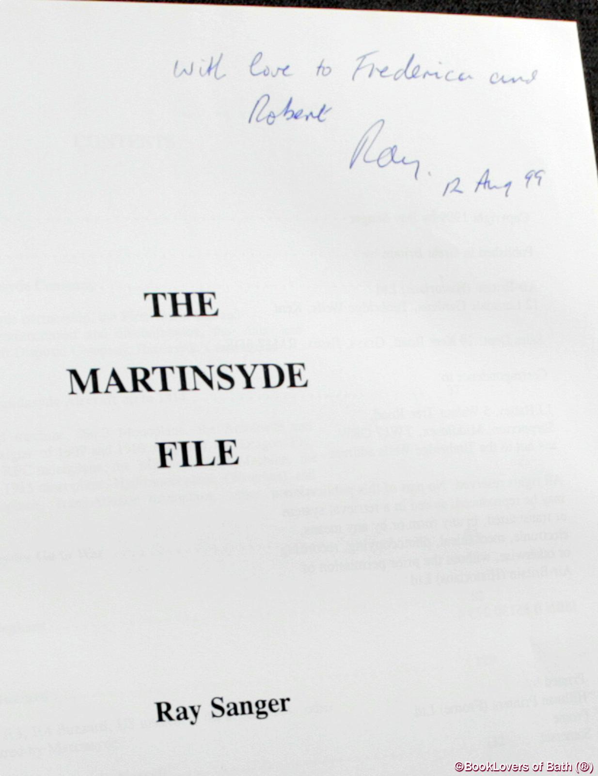 The Martinsyde File - Ray Sanger