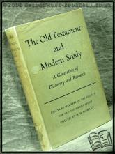 The Old Testament And Modern Study Edited by H. H. Rowley