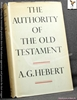 Authority of the Old Testament